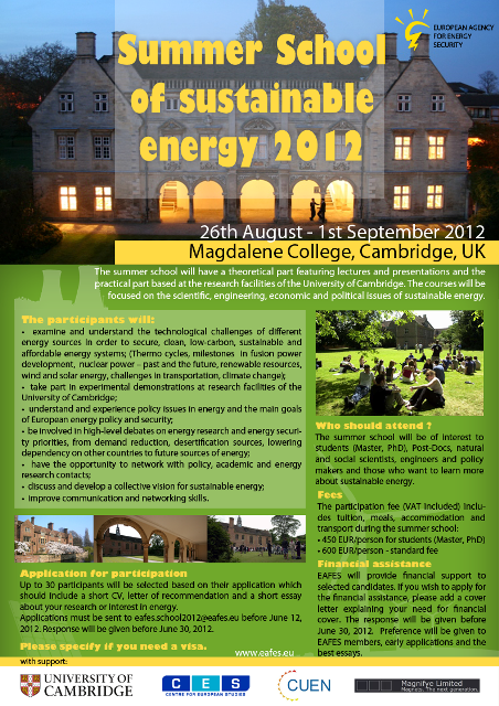 EAFES summer school poster